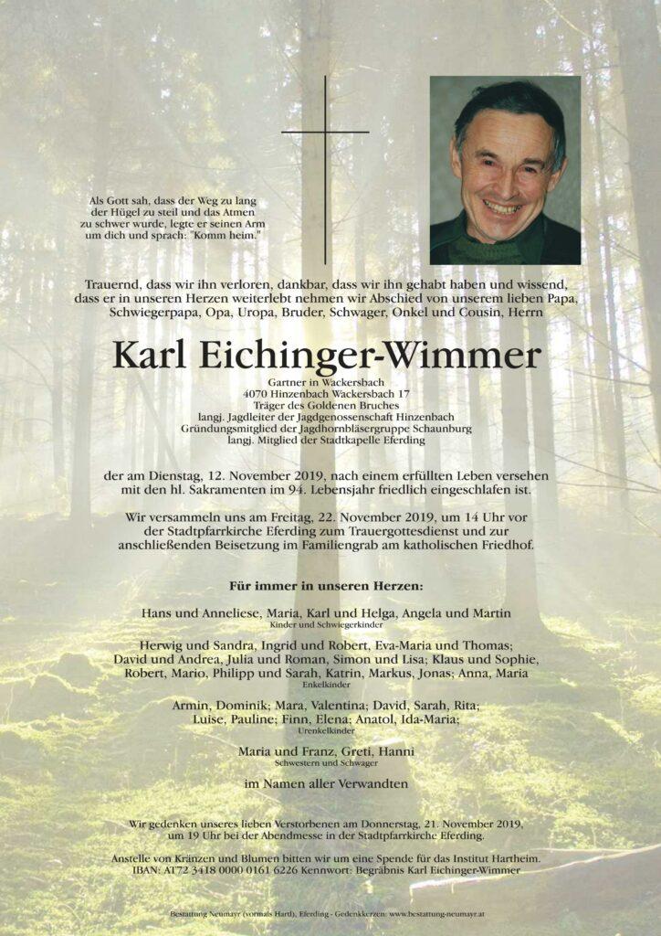 Begräbnis Eichinger Wimmer