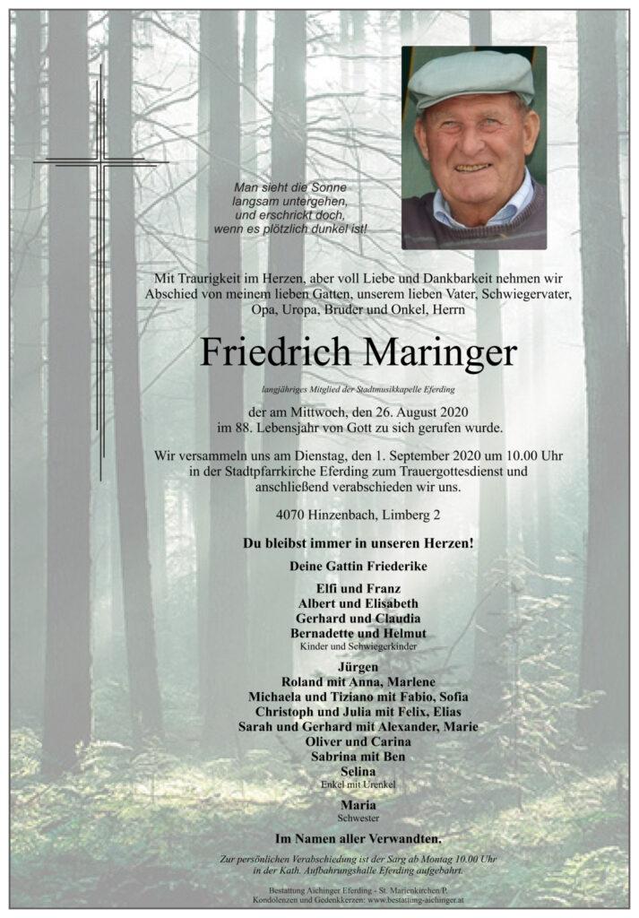 Begraebnis Friedrich Maringer