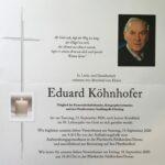 Begräbnis Eduard Köhnhofer
