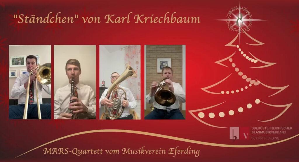 #playathome Adventkalender - Ständchen von Karl Kriechbaum - MARS-Quartett